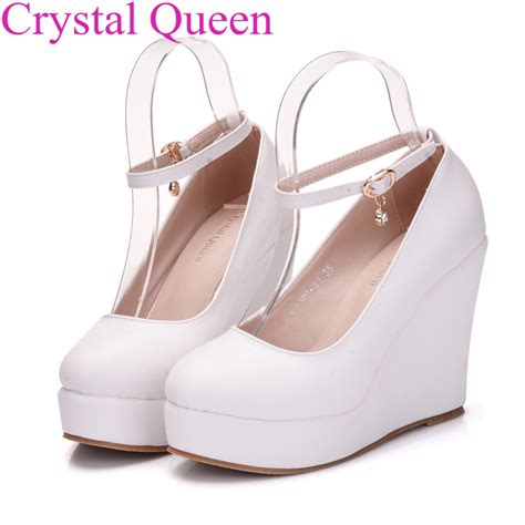 Promo Wedges No1 Terjangkau white wedges shoes wedges pumps for platform high heels toe white high heels