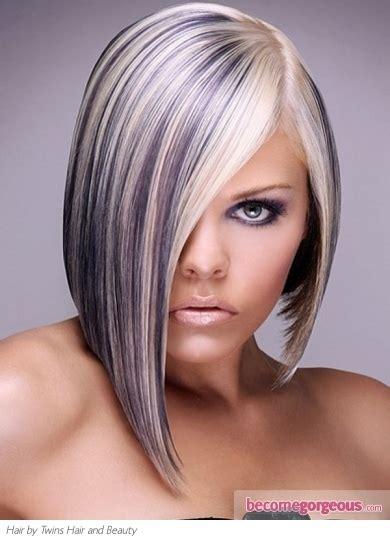 Purple Highlights In Platinum Blonde Hair | pictures hair highlights ideas platinum blonde hair