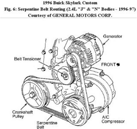 1996 buick skylark 2.4l serpentine belt diagram