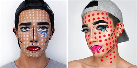 james charles makeup art james charles halloween makeup pop art makeup ideas