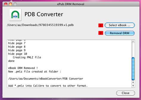 format epub drm pdb drm removal remove pdb drm convert pdb to pdf epub