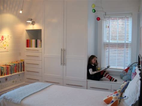 window seat  built  closet decor  interior designs