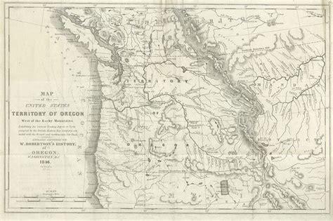 map of oregon territory 1846 oregon territory rivers 1846 maps