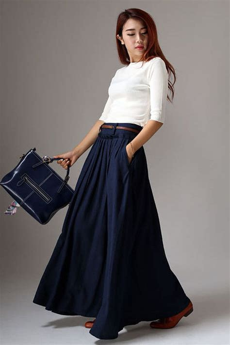 Pleated Flare Maxi Skirt Rok Fit To Big Size 25 best ideas about flared skirt on pencil skirts flare skirt and trumpet skirt
