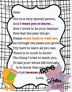 thank you letter to from kindergarten student 1000 images about letter to students on