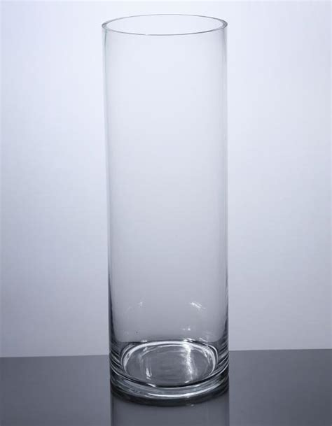 24 Inch Cylinder Vases Wholesale by Pc824 Cylinder Glass Vase 8 Quot X 24 Quot 4 P C Cylinder Glass