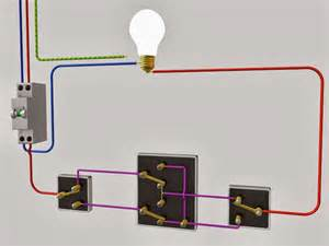 le raccordement de 3 interrupteurs va et vient schema