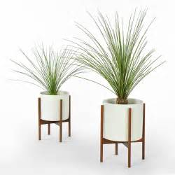 White Planter Pots by Case Study Planter W Stand White Modernica Horne