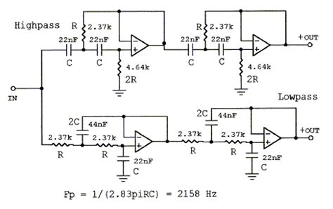 high pass filter calculator crossover active filters