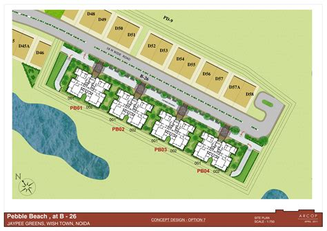 judicial layout plan jaypee pebble court residential apartments