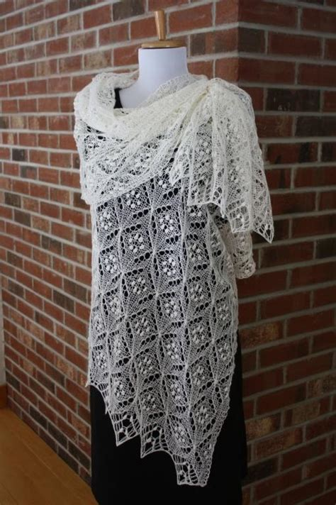knitted lace quatrefoil lace scarf by rukodelnitsa craftsy
