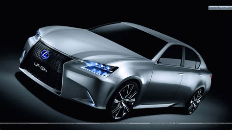 lexus silver lexus lf gh hybrid concept front pose in silver color