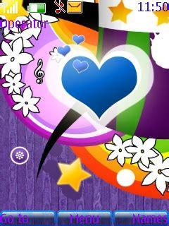 mobile heat blog spot nokia s40 theme heart core download blue heart s40 theme nokia theme mobile toones