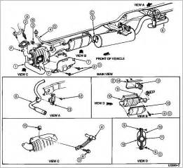 Exhaust System Diagram Ford F150 Ford Duty How To Replace Catalytic Converter Diesel