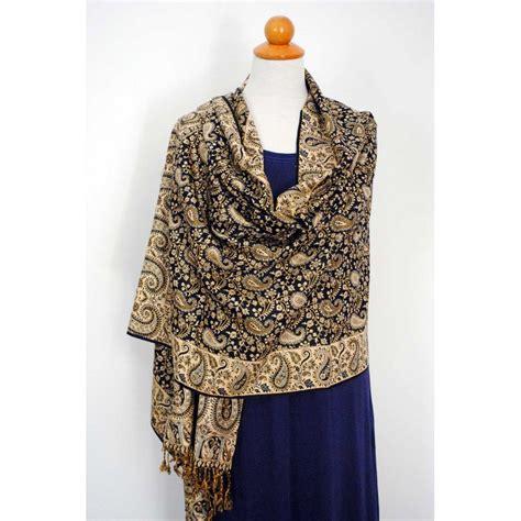 Pashmina Rawis Pasmina Rawis Viscose shawl pashmina gold black silver viscose rednerium