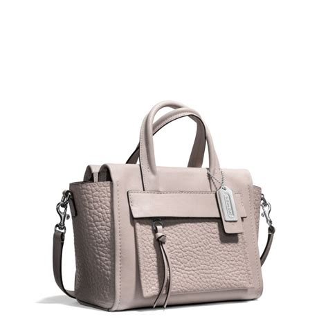 Introducing Coach Bleecker Duffle Sac Purse by Lyst Coach Bleecker Mini Carryall In Leather In Gray