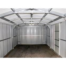 Metal Storage Building Kits Duramax 12x20 Gray Metal Storage Garage Building Kit 50951