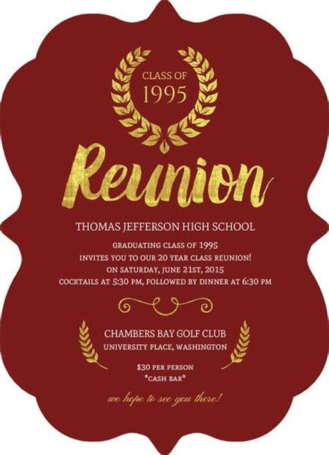 reunion invitation template best 25 class reunion invitations ideas on