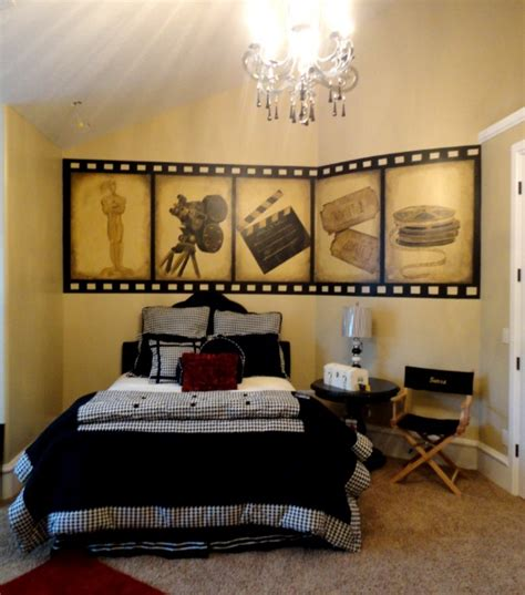 movie bedroom decor bawden fine murals holly wood themed room for a teen girl