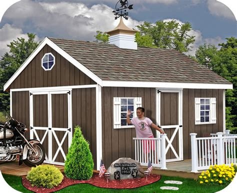 easton  outdoor wood storage shed kit