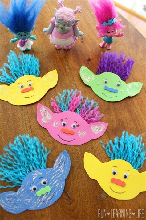 easy arts and crafts ideas for at home how to make a troll magnet and get interactive with trolls