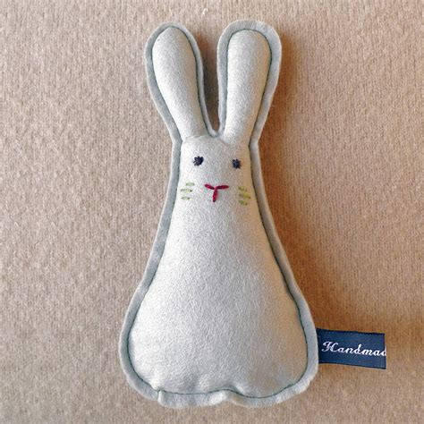 Handmade Rabbit - handmade felt rabbit by owl notonthehighstreet