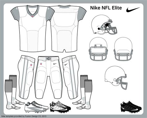 Fusion Template Series Nfl Nike Elite Version 1 Concepts Chris Creamer S Sports Logos Nfl Jersey Design Template