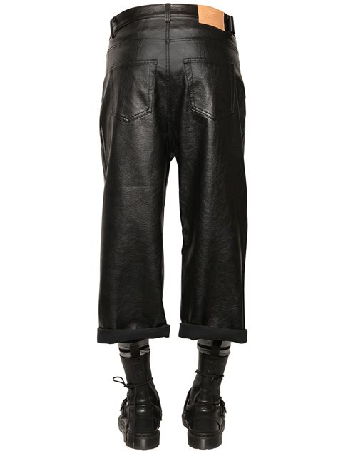Cheap Faux Leather by Cheap Monday 15 5cm Cropped Baggy Faux Leather In