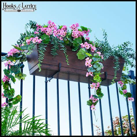 Deck Railing Planter Hooks by Window Box Brackets Flower Box Brackets Deck Railing
