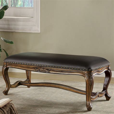 furniture benches indoor shop coaster fine furniture warm brown indoor accent bench