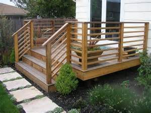 Patio Railings Designs by 25 Best Ideas About Wood Deck Designs On Pinterest