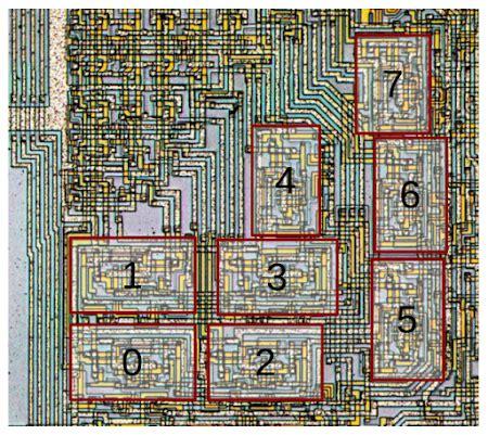 arrangement    alu slices    microprocessor die   processors