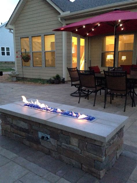 gas fire pit   techo bloc paver patio project