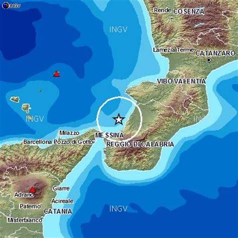 scossa di terremoto di magnitudo 2.9 a palmi, in provincia