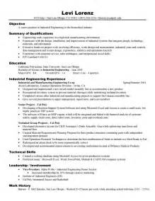 industrial engineer resume sle application engineering resume sales engineering lewesmr