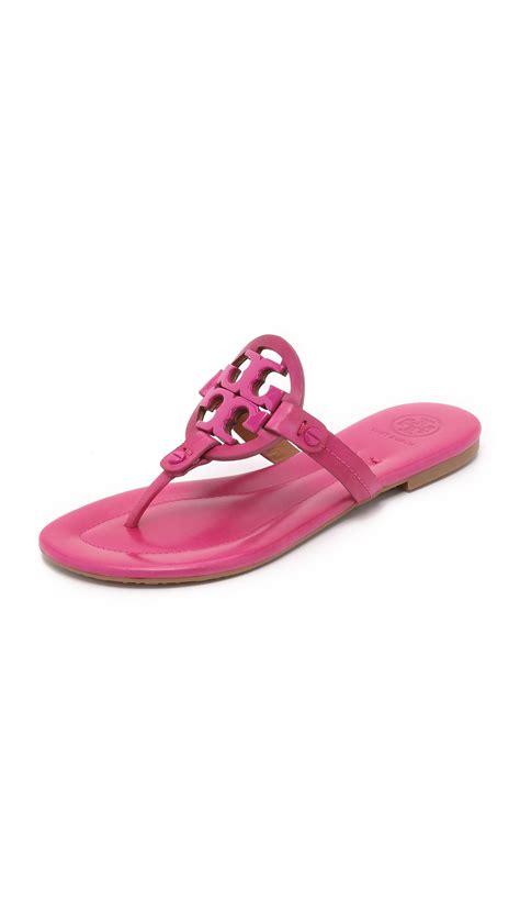 burch pink sandals burch miller sandals in pink lyst