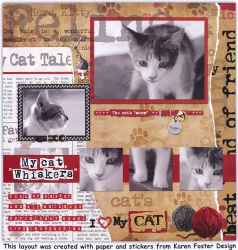 Scrapbook Layout Cat | cat scrapbook page 5 pictures scrapbook layouts 5