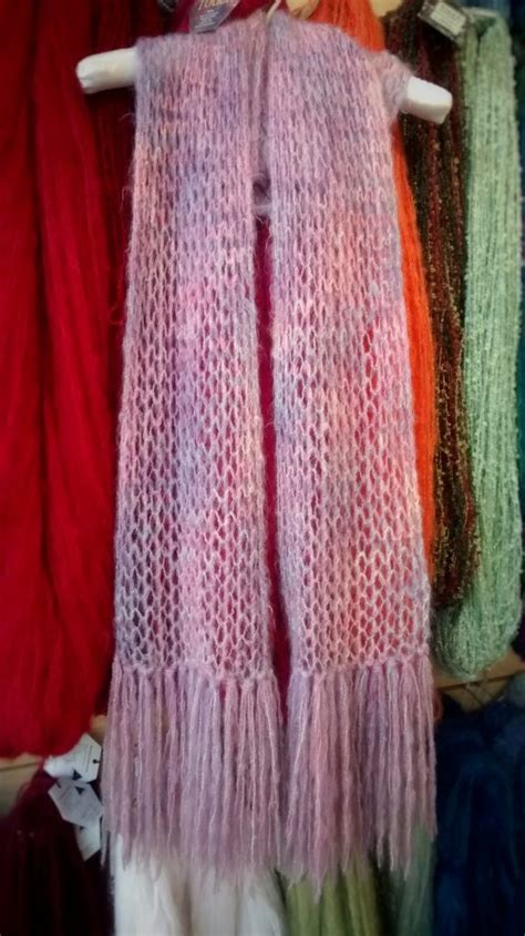 Free Patterns Brushed Mohair Lace Scarf Spin A Yarn
