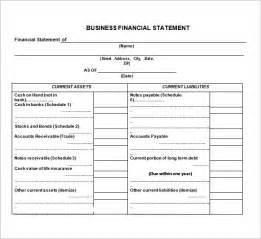 8 free financial statement templates 8 free financial statement templates word excel sheet pdf