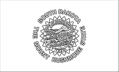 South Dakota State Flag Coloring Page south dakota flag coloring page purple