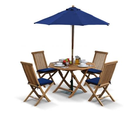 Suffolk Octagonal Folding Garden Table And Chair Set Teak Patio Table And Chairs