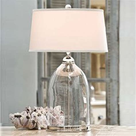 Amazon Table Lamps Glass And Nickel Lamp Contemporary Table Lamps By