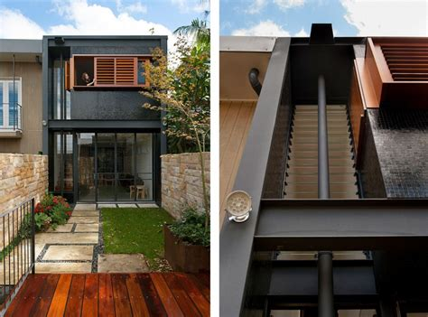 narrow terraced house design rozelle terrace house by carter williamson architects