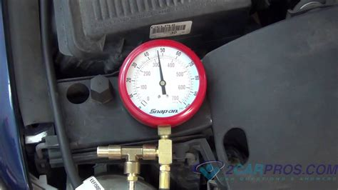 fuel pump pressure  regulator test youtube