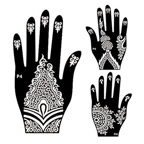 indian henna tattoo stencils aliexpress buy 10pair mehndi henna left right