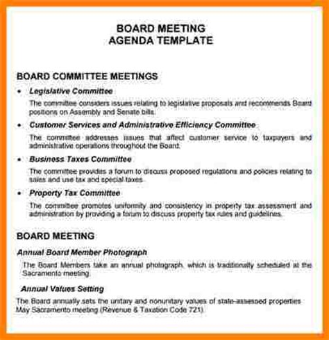 100 nonprofit board meeting agenda template non