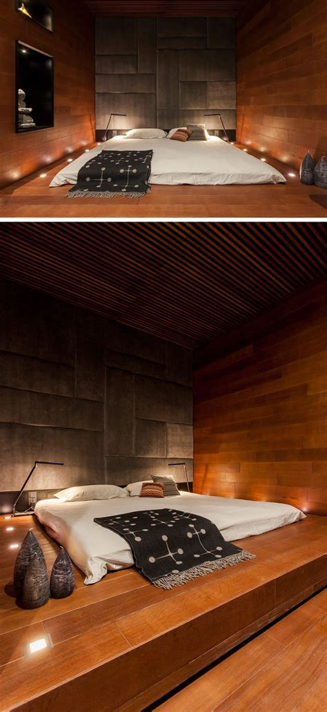 bedroom design idea place  bed   raised platform
