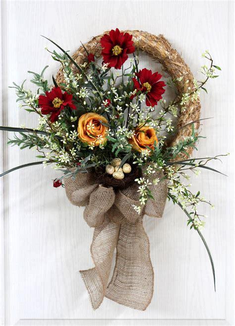 items similar  front door wreath straw wreath spring