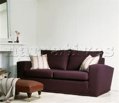 deep purple couch jbh0362 deep purple sofa with cushions and leather f