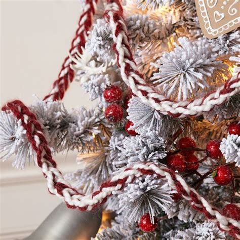 crocheted christmas tree garland ideas 1000 ideas about finger crochet on finger knitting crocheting and knitting